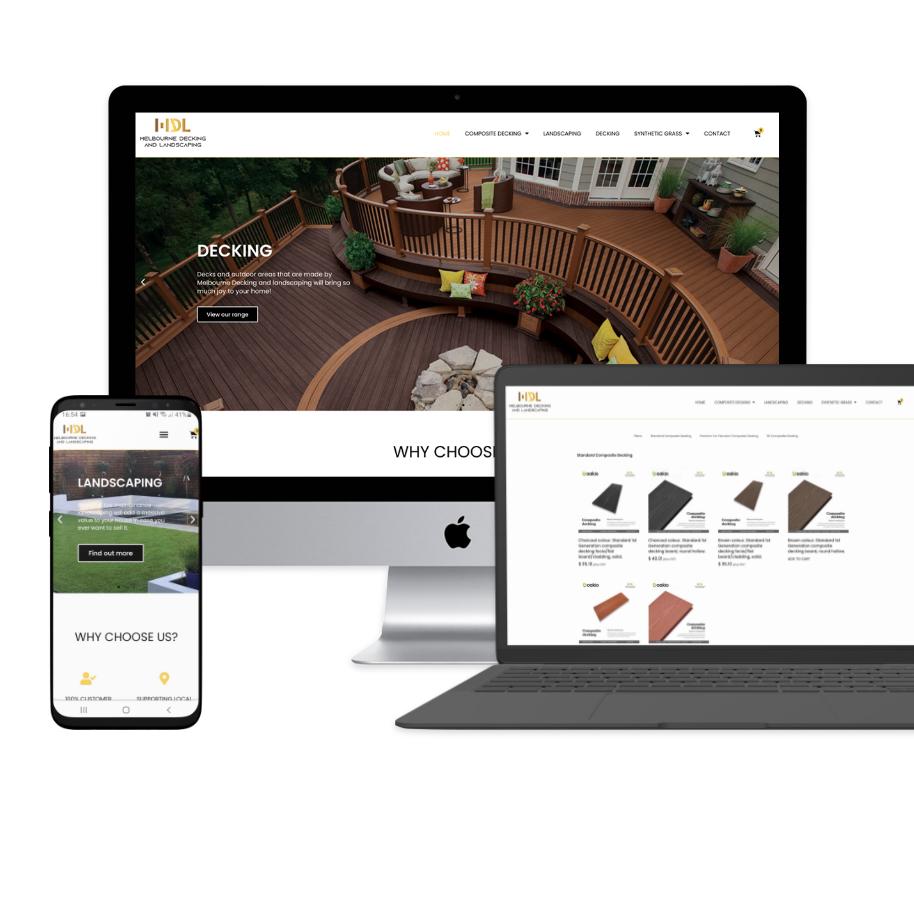 Decking responsive website