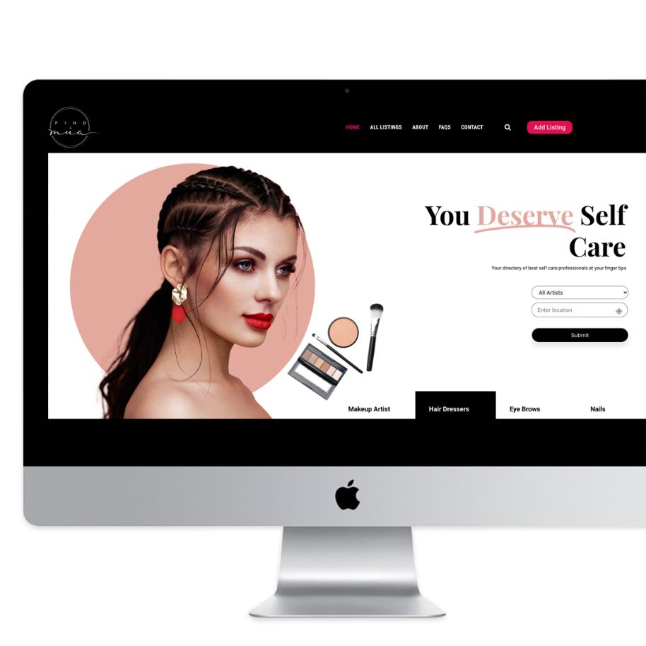 find a mua website design desktop